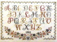 Click for more details of Antique Alphabet Sampler (cross-stitch pattern) by Pat Rogers