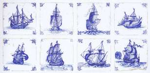 Click for more details of Antique Dutch ( Delft Blue) Tiles (cross-stitch) by Thea Gouverneur