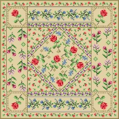 Click for more details of Antique Quilt Square (cross-stitch) by Designs by Cathy