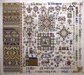 Click for more details of Antique Sampler (cross-stitch kit) by Permin of Copenhagen