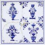 Click for more details of Antique Tiles - Flower Vases (cross stitch) by Thea Gouverneur