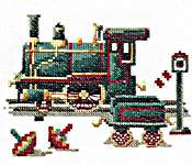 Click for more details of Antique Toys - Locomotive (cross-stitch) by Lanarte