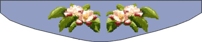 Click for more details of Apple Blossom Curtain Tie Backs (cross stitch) by Anne Peden