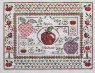Click for more details of Apple Stitches (cross-stitch pattern) by Jeannette Douglas