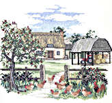 Click for more details of Appletree Farm (cross-stitch) by Rose Swalwell