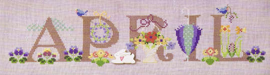 Click for more details of April (cross-stitch) by The Cross-Eyed Cricket