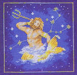 Click for more details of Aquarius (cross-stitch kit) by Lanarte