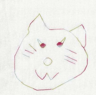 Click for more details of Aria's Cat (cross stitch) by Anne Peden