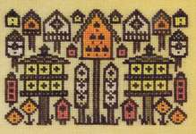 Click for more details of Arranging Birdhouses (cross stitch) by Ink Circles