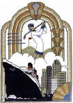 Click for more details of Art Deco Golfer (cross-stitch kit) by Barbara Thompson