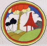 Art Deco Plate - Pagoda