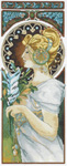 Click for more details of Art Nouveau by Mucha - Quill (cross-stitch) by Lanarte