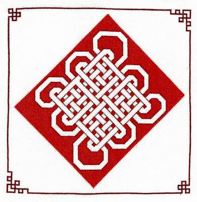 Click for more details of Assisi Chinese Knot (cross stitch) by Anne Peden