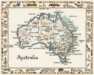 Click for more details of Australia (cross stitch) by Sue Ryder