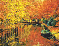 Click for more details of Autumn Boat Ride (cross-stitch pattern) by Kustom Krafts