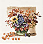 Click for more details of Autumn Bouquet (cross-stitch kit) by Lanarte