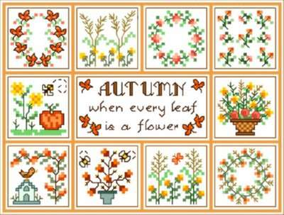 Click for more details of Autumn (cross-stitch pattern) by Designs by Cathy