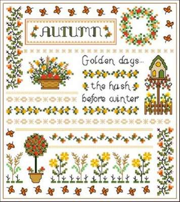Click for more details of Autumn Days (cross-stitch pattern) by Designs by Cathy