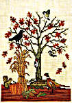 Click for more details of Autumn Feeder (cross-stitch pattern) by Crossed Wing Collection