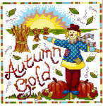 Click for more details of Autumn Gold (cross-stitch pattern) by Cinnamon Cat