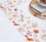 Click for more details of Autumn Impressions Table Cover (embroidery kit) by Rico Design