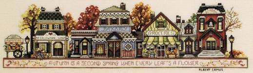 Click for more details of Autumn in the Village (cross-stitch pattern) by Stoney Creek