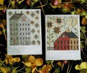 Click for more details of Autumn Saltboxes (cross stitch) by Plum Street Samplers