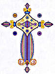 Click for more details of Avalon Cross (cross-stitch) by Mike Vickery