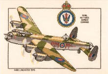 Click for more details of Avro Lancaster (cross-stitch kit) by Dave Shaw