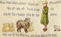 Click for more details of Baa Baa Black Sheep (cross-stitch pattern) by Marie Barber