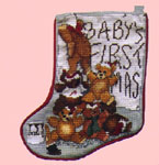 Click for more details of Baby's First Christmas Stocking (cross-stitch pattern) by X's & Oh's