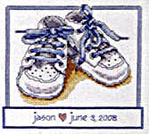 baby shoes cross stitch