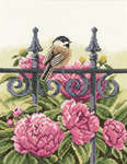 Click for more details of Backyard Beauties - Chickadee (cross-stitch kit) by Lanarte