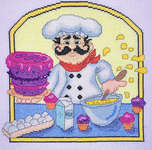 Click for more details of Baker Chef (cross-stitch) by Cross Stitching Art