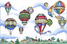 Click for more details of Balloon Festival (cross stitch) by Mike Vickery