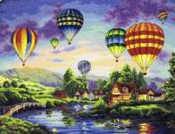 Click for more details of Balloon Glow (cross stitch) by Dimensions