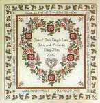 Click for more details of Baltimore Rose Wedding Sampler (cross-stitch pattern) by Rosewood Manor