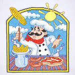 Click for more details of BBQ Chef (cross-stitch) by Cross Stitching Art