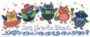 Click for more details of Beach Owls (cross stitch) by Imaginating