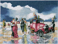 Click for more details of Beach Waltz (cross-stitch kit) by Design Works