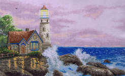 Click for more details of Beacon of Hope (cross stitch) by Thomas Kinkade