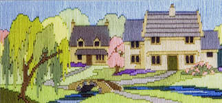 Click for more details of Beckside Lane  (long-stitch) by Rose Swalwell
