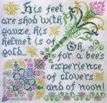 Click for more details of Bees in Clover (cross stitch) by Tempting Tangles Designs