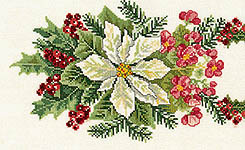 Click for more details of Begonias and Poinsettia Table Runner (cross-stitch kit) by Eva Rosenstand