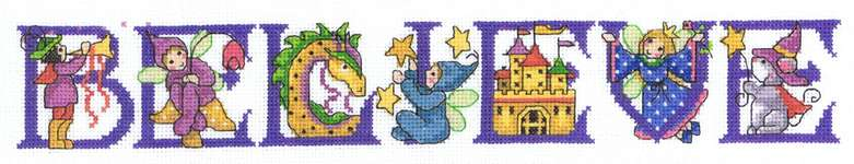 Click for more details of Believe (cross stitch) by Imaginating