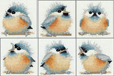 Click for more details of Bird Coasters (cross-stitch kit) by Valerie Pfeiffer