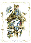 Bird House - cross-stitch kit by Marjolein Bastin
