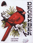 Click for more details of Bird of the Month - December Northern Cardinal (cross-stitch) by Stoney Creek