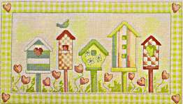 Click for more details of Birdhouse Paradise Green (cross stitch) by Cinnamon Cat
