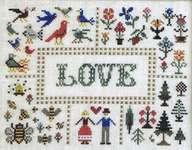Click for more details of Birds, Bees and Trees (cross stitch) by The Needle's Notion